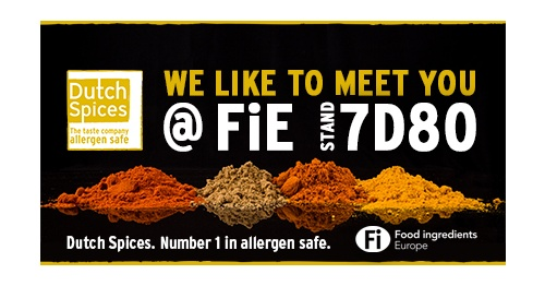 Dutch Spices op de FiE: number 1 in allergen safe